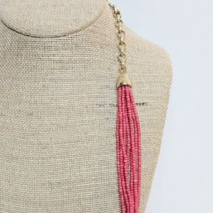 Chico's Jewelry - Chico's Red Seed Bead W/Accents Long Necklace